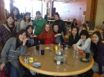 Mie students break for lunch at SPU's Gwinn Commons