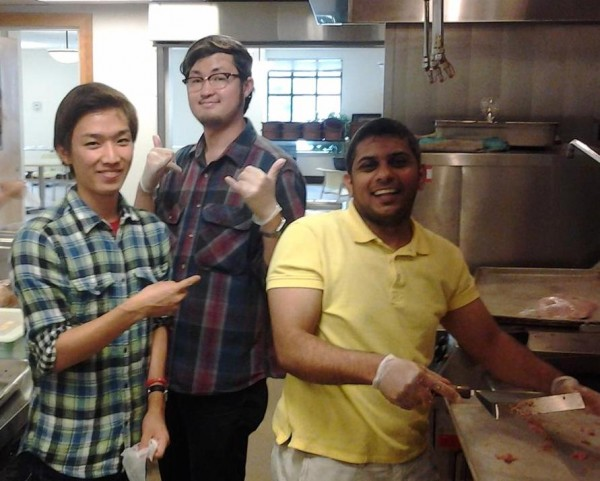 Operation Sack Lunch students cooking