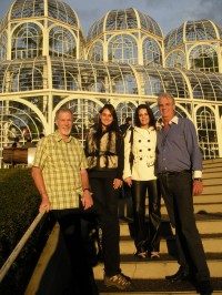 Jim on the 2012 Study Tour to Chile and Brazil, visiting cultural sites in Curitiba, Brazil with A.C.E. alumna Paula and her family