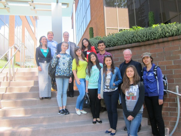E2's 2014 Summer Entrepreneurial Leadership Program participants pose outside the A.C.E. Central Office