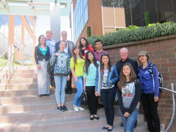 E2's 2014 Summer Entrepreneurial Leadership Program participants pose outside the A.C.E. Central Office